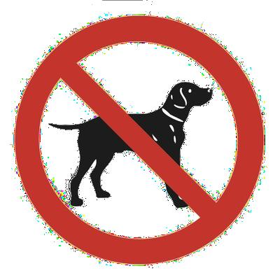 Zákaz vstupu se psy do stopy
